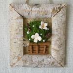 【夏休みの作品】1時間で出来るドライフラワーを使ったサボテン風ミニ額(作り方)