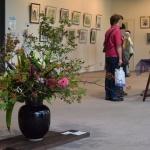 4日リリスに絵画展の【花装飾】をしてきました 開催は10日までです