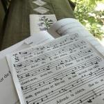 ホールの響きの中で美しい声と響きを作るための充実した練習をしました!
