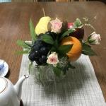 【フラワーアレンジメント】フルーツを絵画のように盛り合わせてアレンジ