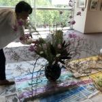 【水彩画作品展】花装飾してきました!