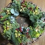 【ナチュラルクリスマスリース】簡単なグリーンリースの作り方