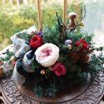 【クリスマスキャンドルアレンジ】プリザーブドフラワーを使ってプレゼント作品つくりました