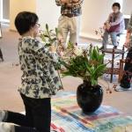 【水彩画教室作品展】花装飾してきました!