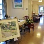 【花装飾】水彩画作品展、今回は山手234番館に洋風アレンジしてきました