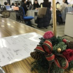【クリスマスキャンドルアレンジ講習会】43名の参加で無事終了しました!