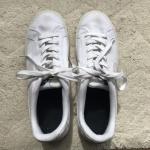 キャンバス地の白スニーカー 中性洗剤で洗ってみました