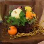 【フラワーアレンジメント】カボチャを使ったバスケットアレンジ(作り方)