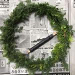 【クリスマスリース】生のグリーンで簡単に作る手作りリース(作り方)