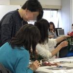 【クリスマス企業催事講習会】46名でドアスワッグを作りました!