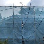 【屋根・外壁塗装工事】9日目 外壁3回目と屋根中塗り(2回目)10日目の予定は雨で中止